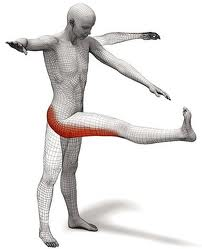 While standing, lift leg straight and touch toes with opposite hand, just like this creepy diagram shows.